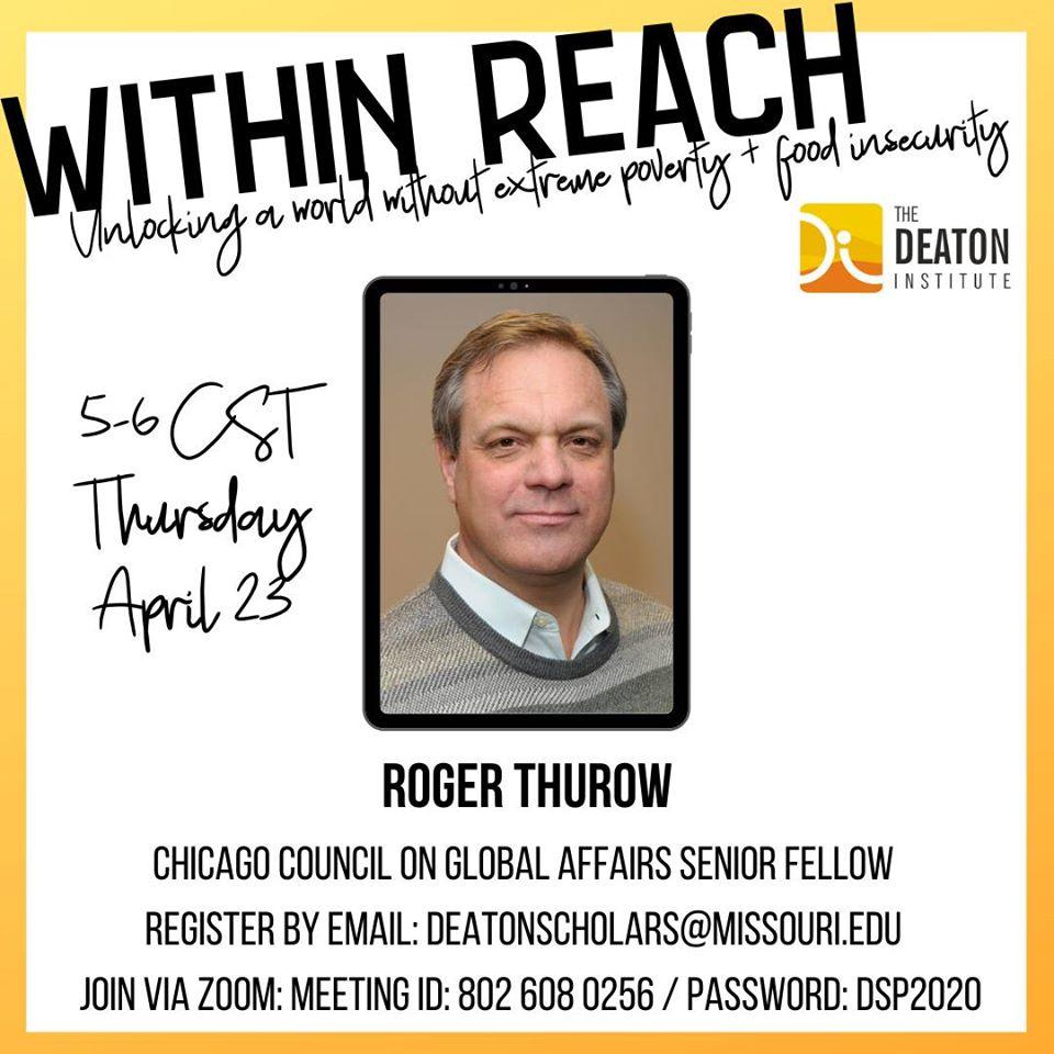 Roger Thurow webinar info